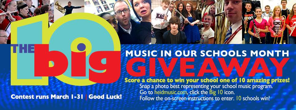 school, prizes, vote, 10, big 10, high school, middle school, heid music