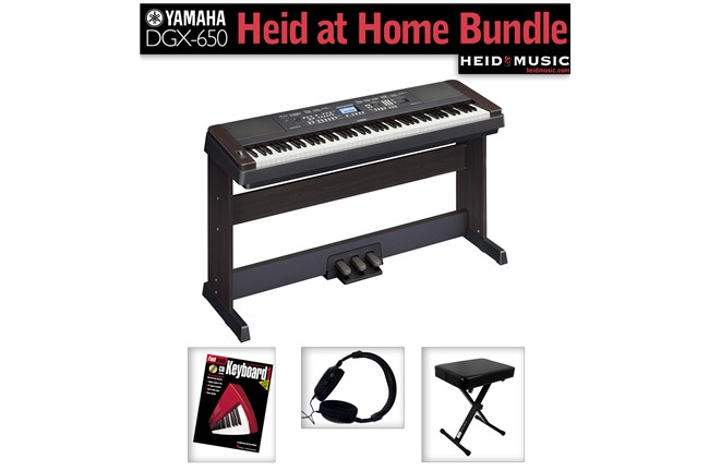 Yamaha dgx 650 heid at home bundle digital piano bundle for Yamaha music school locations