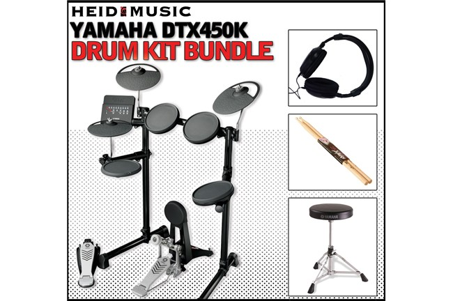 Yamaha DTX450K Electronic Drum Kit Bundle