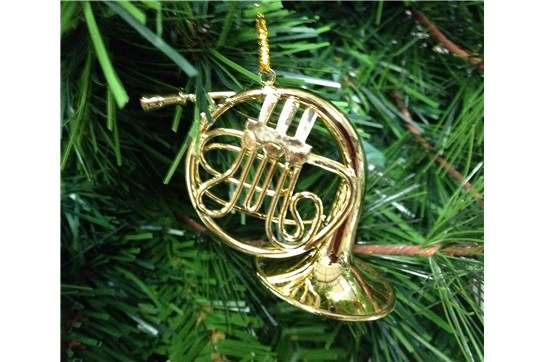 Broadway Gifts Gold French Horn Ornament