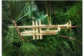 Broadway Gifts Gold Trumpet Ornament