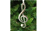 Broadway Gifts Silver Treble Clef Ornament