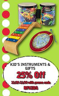 Kids Gifts 25% Off Black Friday Weekend at Heid Music