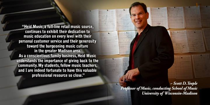 Scott Teeple, Professor of Music at UW-Madison on Heid Music