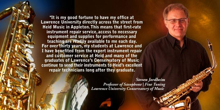 Steve Jordheim, Professor of Saxophone at Lawrence University, shares his Heid Music experience.