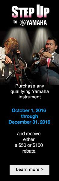 Yamaha Band Instrument Rebates now - end of year