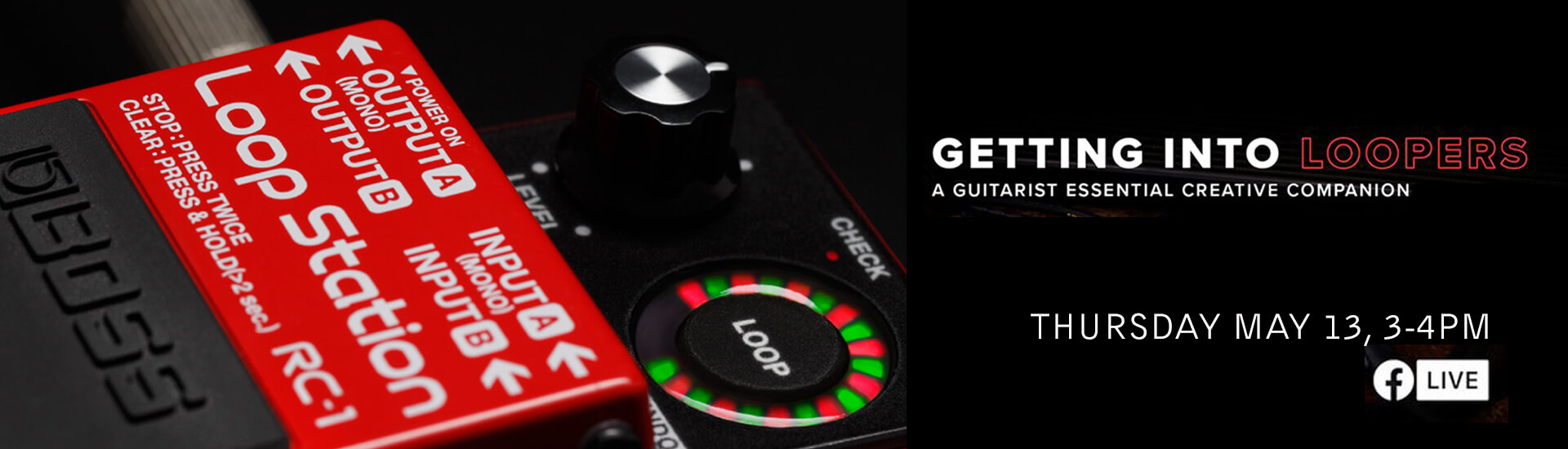 learn about looper pedals for guitars from Boss