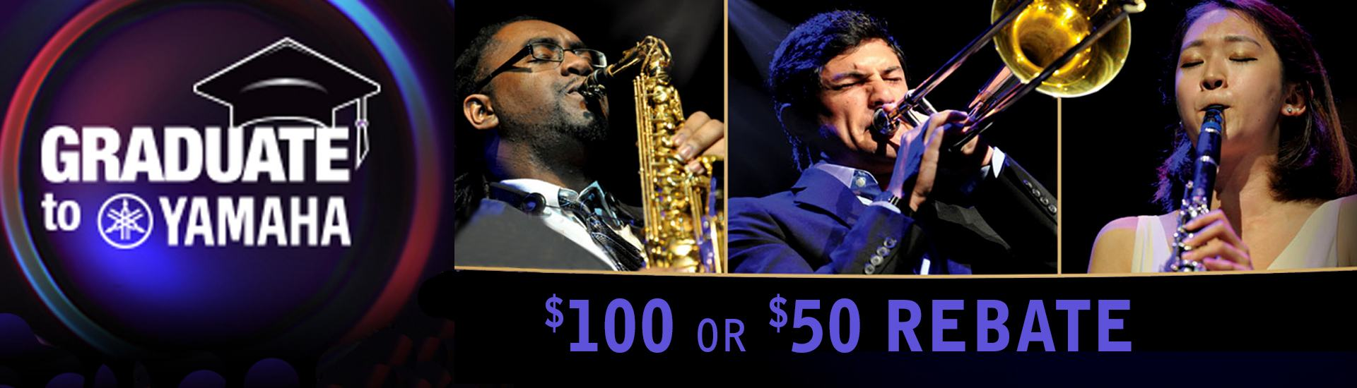 Special rebates on band instruments