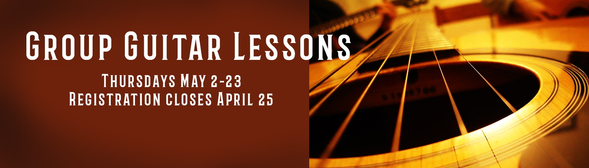Group guitar lessons for beginners 10-adult