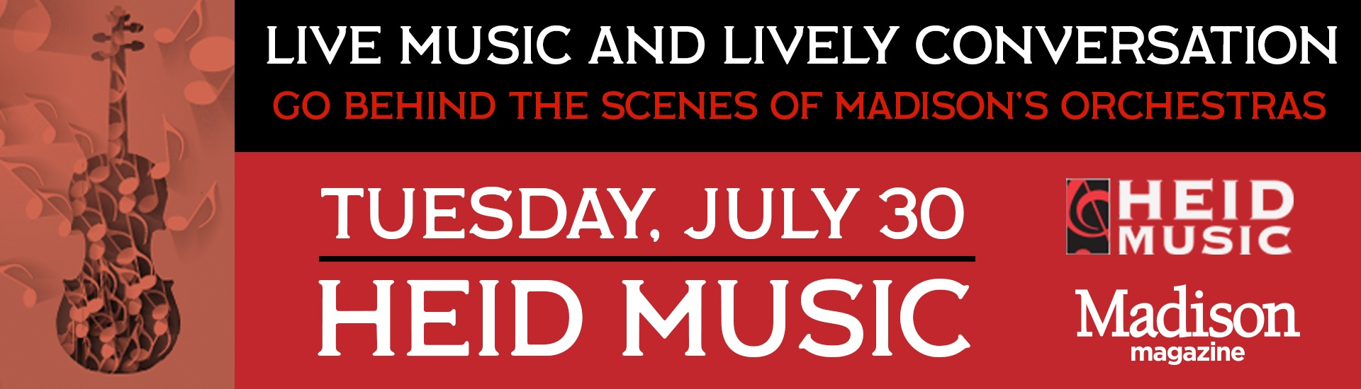 Live music and conversation Madison Orchestra