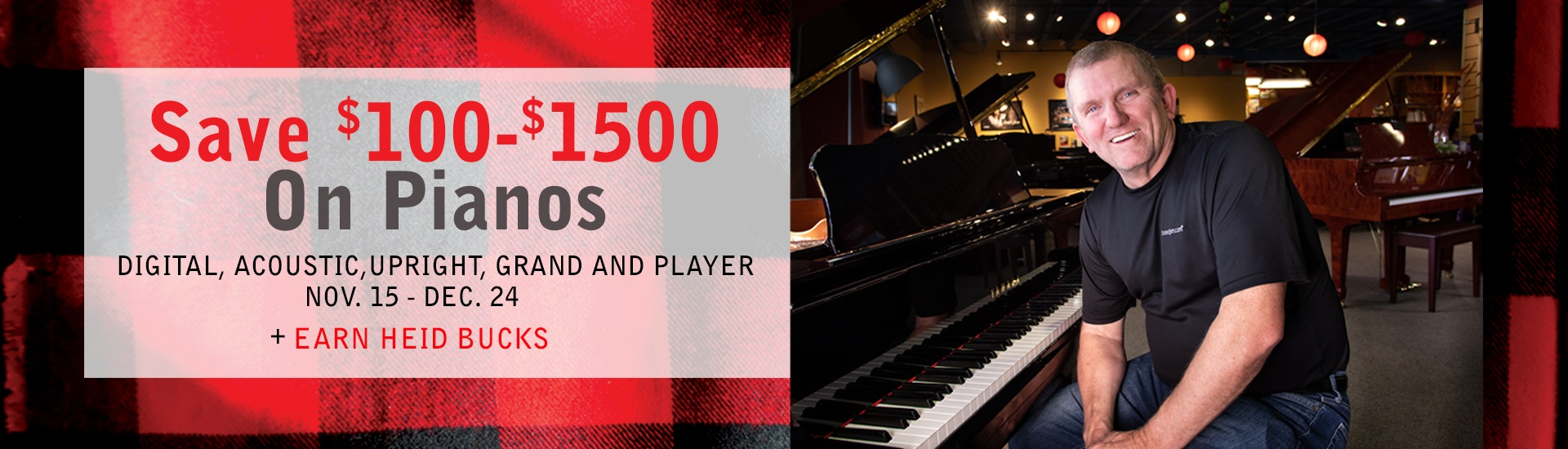 $100 to $!500 of pianos