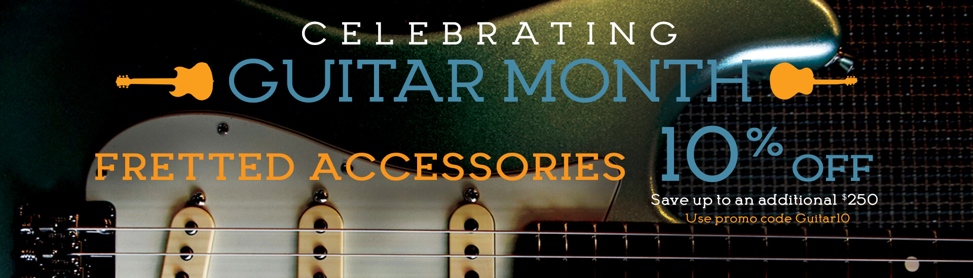 Save on all guitar accessories