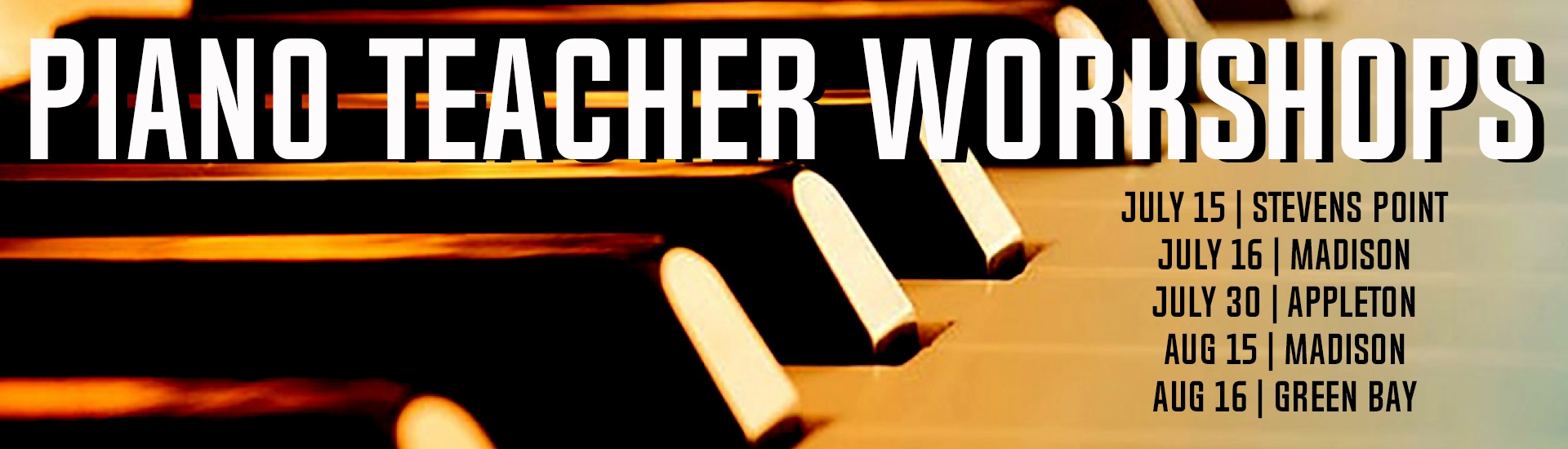 piano teacher workshops