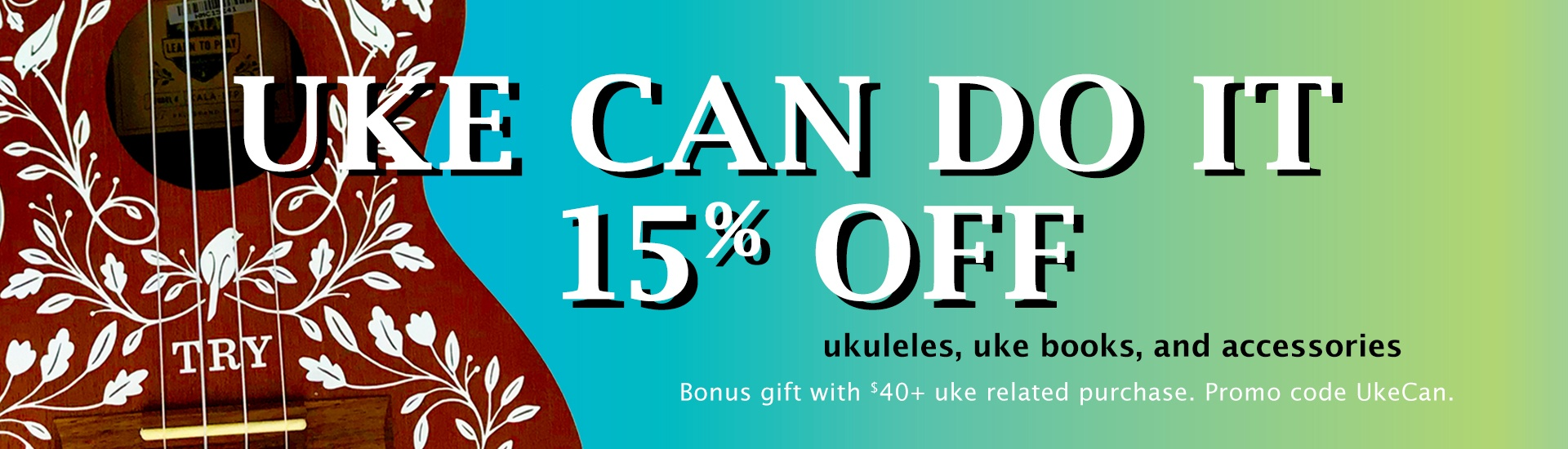 ukulele and accessory sale