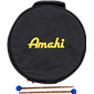 "Amahi 12"" Tongue Drum - Black"