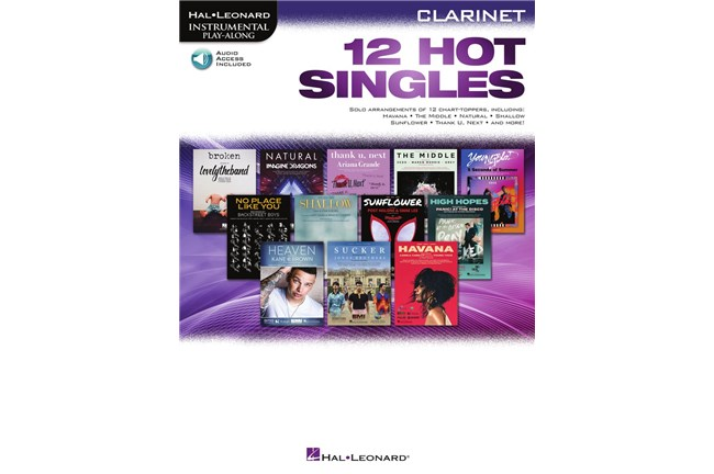 12 Hot Singles for Clarinet