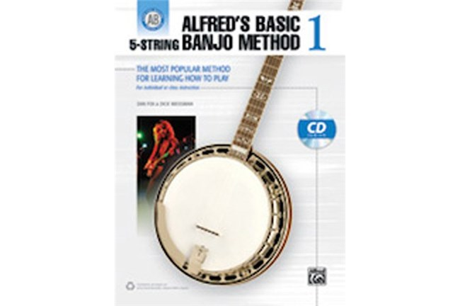 Alfreds Basic 5 String Banjo Method 1 w/CD