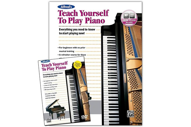 Alfred Teach yourself piano book dvd