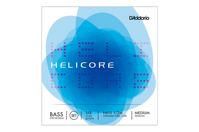 D'Addario Helicore Orchestral Series Double Bass String Set (1/2 Size, Medium)