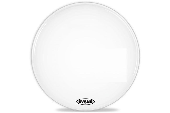 "Evans 20"" MX2 Marching Bass Head, White"