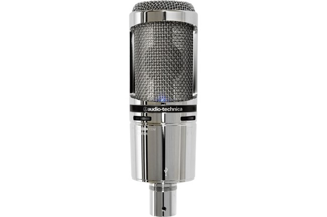 Audio-Technica AT2020USB+ Cardioid Condenser USB Microphone (Limited Edition Chrome)