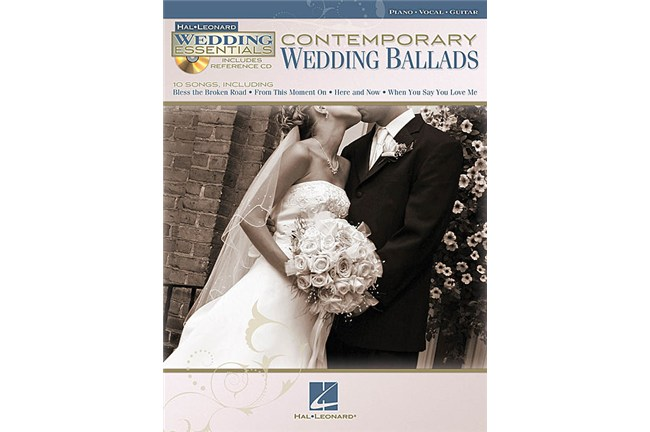Contemporary Wedding Ballads Piano / Vocal / Guitar Songbook w/CD