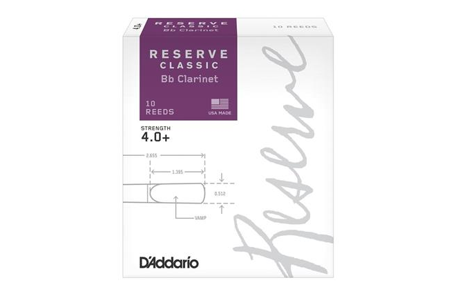 Reserve Classic Clarinet Reeds 4+