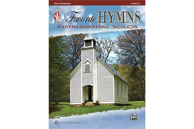Favorite Hymns Instrumental Solos Tenor Sax book
