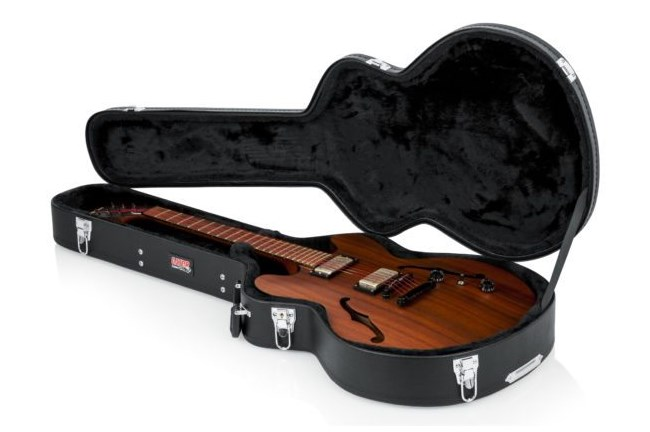 Hard-Shell Wood Case for Semi-Hollow Guitars