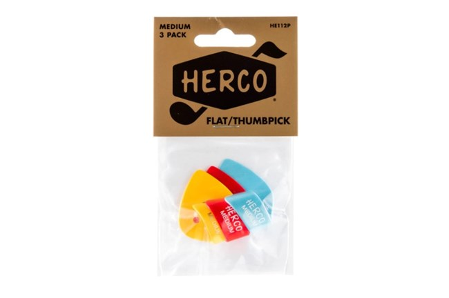 Herco Medium Thumbpicks - 3 pack