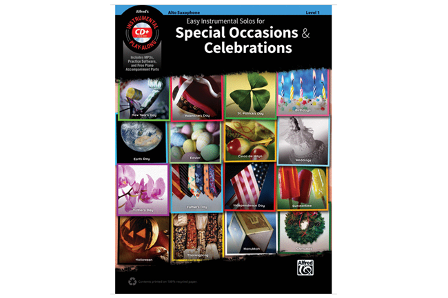 Easy Instrumental Solos for Special Occasions & Celebrations (Alto Sax)
