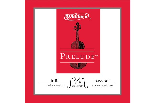 D'addario J610 3/4 Size Double Bass String Set