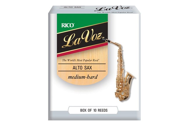 La Voz Medium Hard Alto Saxophone Reeds Strength  (Box of 10)