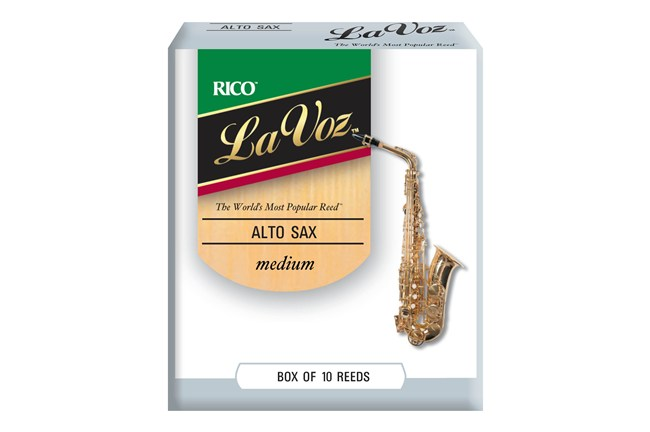 La Voz Alto Saxophone Reeds Medium Stength Box of 10