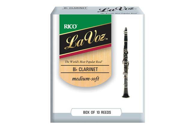 La Voz Clarinet Reeds Medium Soft Stength Box of 10