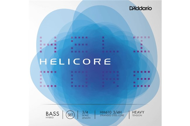Helicore Hybrid 3/4 Bass String Set - Medium