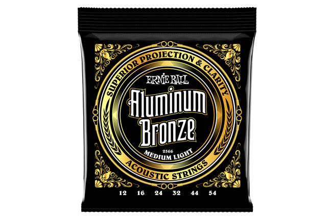Ernie Ball 2566 Medium Light Aluminum Bronze Acoustic Guitar Strings