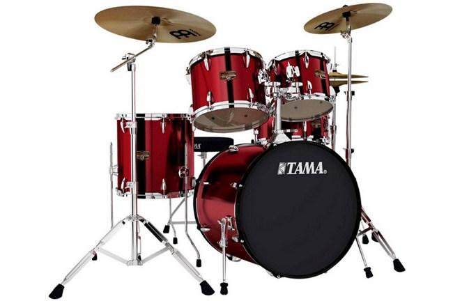 Tama imperialstar ip50c 5 piece drum set vintage red for Yamaha dtx450k 5 piece electronic drum kit