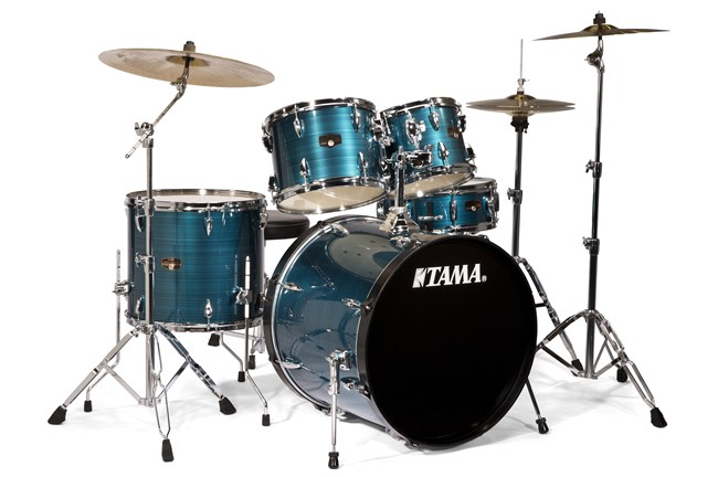 Tama Imperialstar 5-piece Drum Set hairline blue