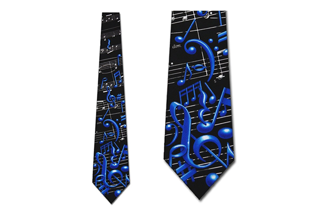 Musical Notes and Symbols Necktie