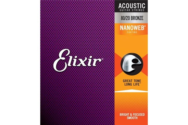Elixer 11002 Nanoweb Extra Light Acoustic Strings