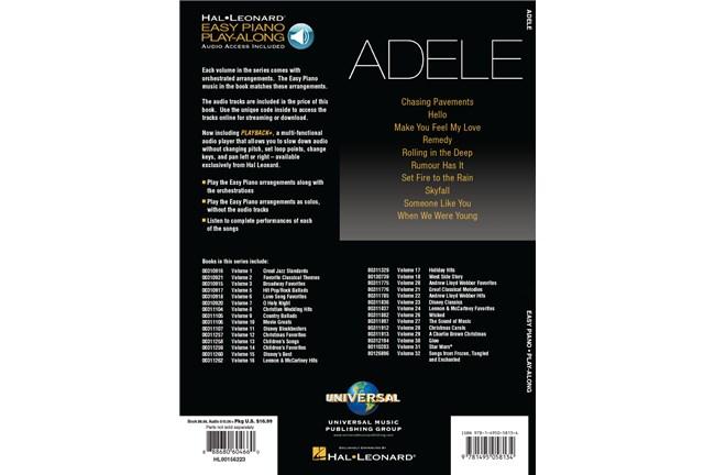 Adele Easy Piano Play-Along Volume 4 w/Audio | Heid Music