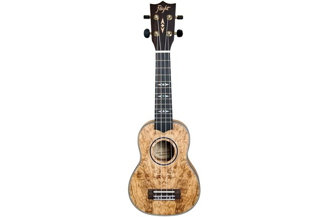 Flight DUS410 Quilted Ash Soprano Ukulele