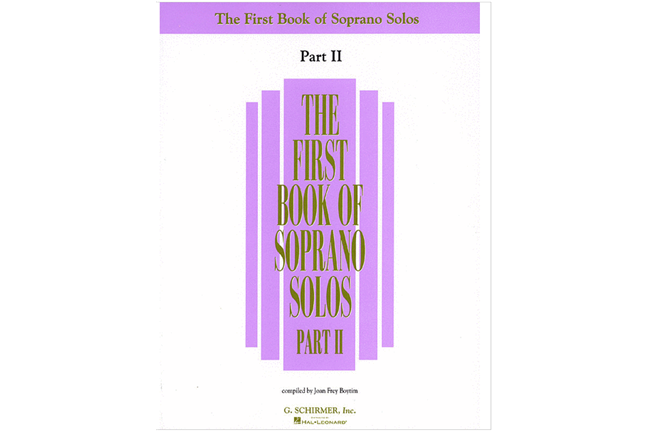 First Book of Soprano Solos, Part II