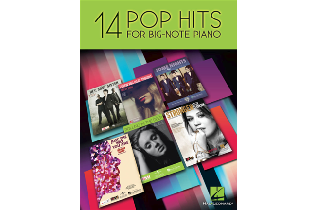 14 Pop Hits for Big Note Piano
