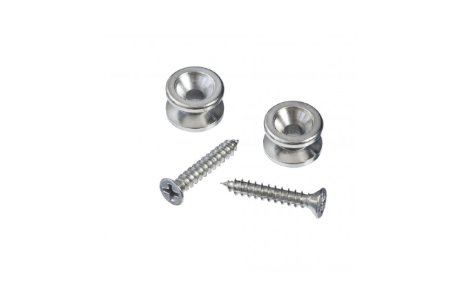 Planet Waves PWEP202 Solid Brass End Pins - Chrome (Pair)