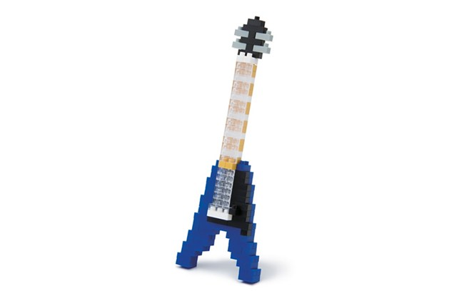 nanoblock flying v guitar