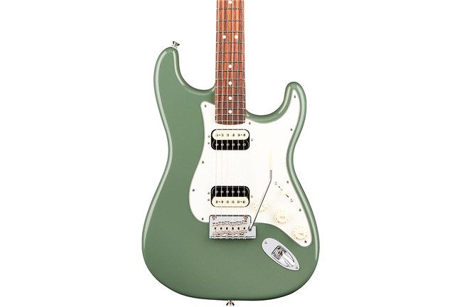 Fender Am Pro Strat HH Shawbucker Electric Guitar (Antique Olive
