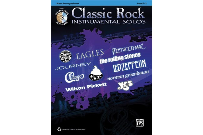 Classic Rock Instrumental Solos Piano Acc.
