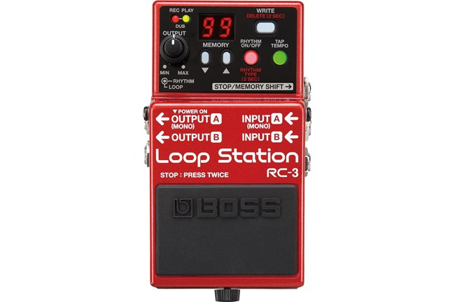 Boss RC-3 Loop Station Red